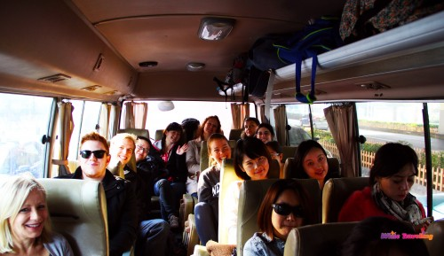 Our tour group at the weekend getaway trip to Xinchang