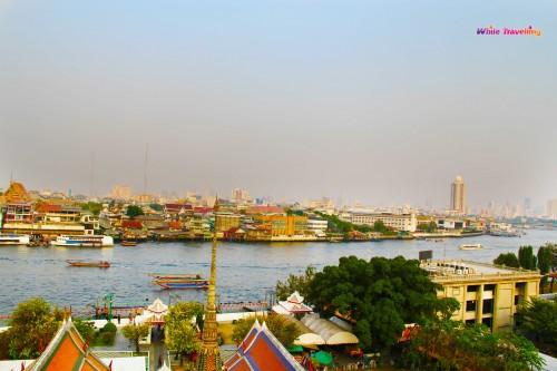 Wat Arun'dan görülen şehir manzarası, Bangkok