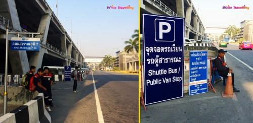 Bangkok Suvarnabhumi Havalimanı ücretsi servis aracı bekleme alanı