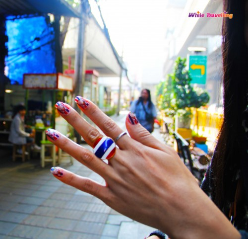 Nails supporting the protests in Thailand