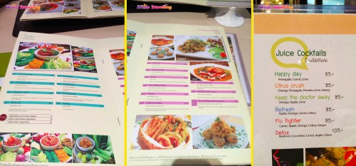 Cheevaji Macro Biotic Vejeterya Restoranı'nda öğle yemeğimiz