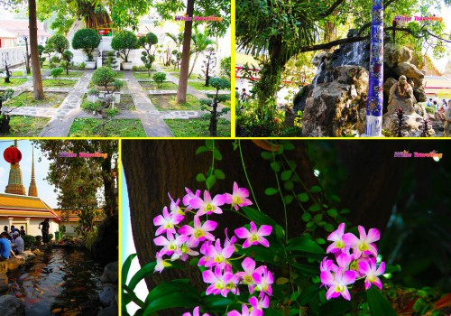 One of the gardens in Wat Pho, Bangkok
