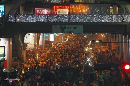 Siam Protest area in Bangkok