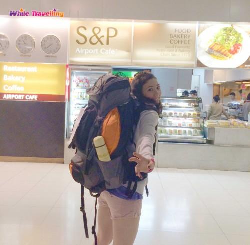 Safe , sound and hungry at Suvarnabhumi Airport, Bangkok