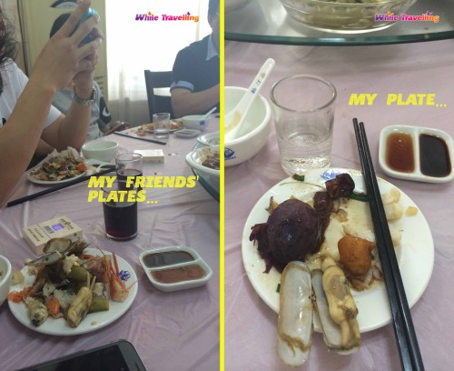 A traditional lunch at a Chinese restaurant