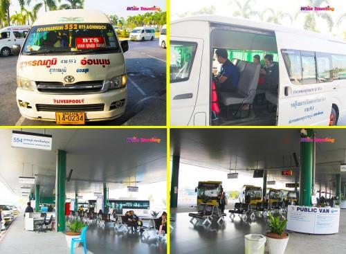 552 numaralı halk otobüsü misali halk minivanı , Toplu Taşıma Sistemi, Bangkok - Tayland