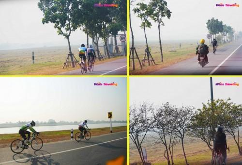 Cyclists in Bangkok