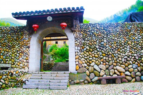 90-stone wall