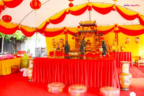 Chinese New Year preparations, Wat Pho, Bangkok