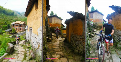 Cyclists appear in Kenggen Stone Village