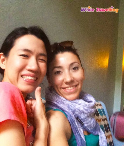 Anni, the owner of Chan Cha La 99 Hostel in Bangkok and me