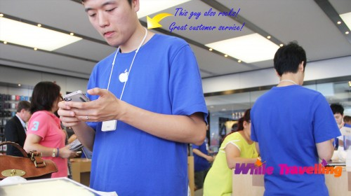 Set up guy, great customer service, Apple store, IFC, Hongkong