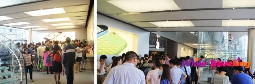 Apple store inside in IFC Shopping Mall, Hongkong