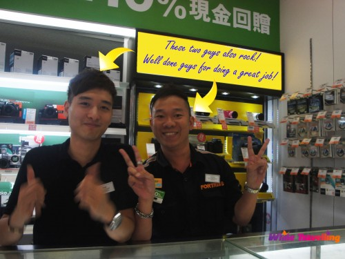Best salesmen in Fortress store, Hong Kong