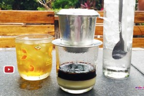 The famous Vietnamese Iced Coffee: Ca Phe Sua Da