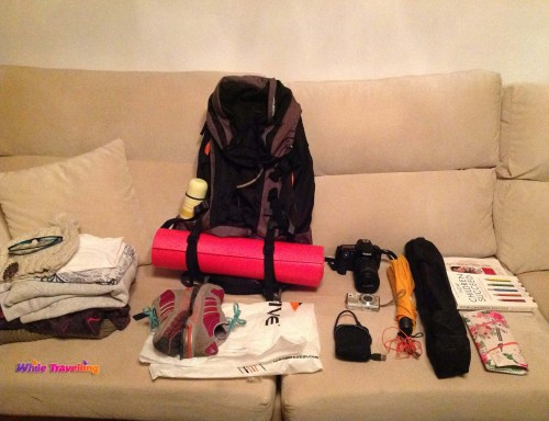 Preparing my back-pack for Xinchang weekend trip