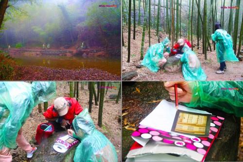 Orienteering activity in Xinchang National Geopark