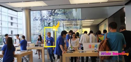 Successful salesman in Apple store, IFC, Hongkong