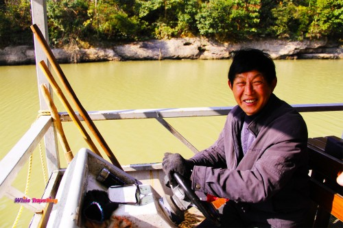 The captain of the boat on Tianzhu Lake in Xinchang