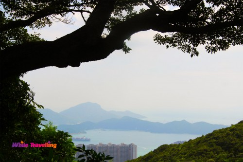 The view of the islands from Victoria Trail, Hongkong