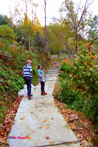 Adventurous people in Tianzhu Wonderland Scenic Area in Xinchang