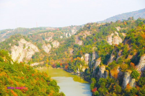 The view from the top in Tianzhu Wonderland Scenic Area in Xinchang