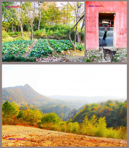 The back door of the old temple in Tianzhu Wonderland Scenic Area in Xinchang