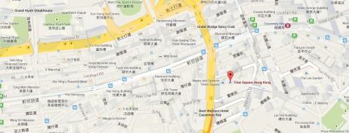 Times Square Map Hong Kong