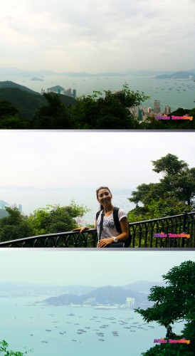 View from the Fairy Bridge in Victoria Trail, Hongkong